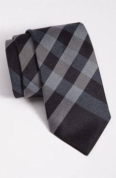 Burberry London Woven Silk Tie available at #Nordstrom navy-grey stripe