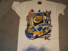 Kevin Harvick #29 Chevy AOL Extra Large (XL) new white tee shirt: Kevin Harvick #29 Chevy with America On Line as his sponsor printed on a new white extra large (XL) short sleeve tee shirt. This is a two side print as well and printed for Chase. I only have one in this size......