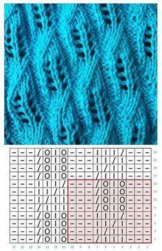 Lace Knitting Stitches, Lace Knitting Patterns, Knitting Kits, Knitting Videos, Knitting Charts, Knitting Designs, Stitch Patterns, Crochet Chart, Knit Crochet