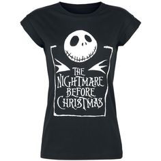 Nightmare Before Christmas T-Shirt ❤ liked on Polyvore featuring tops, t-shirts, christmas t shirts, christmas tops and christmas tee