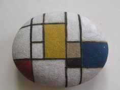Cool! Rock painting inspired by famous artists.