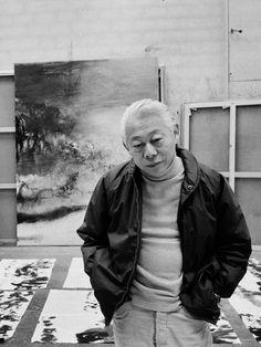 Zao Wou-Ki in his studio