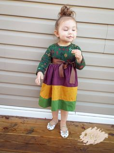 Girl's Emily Dress PDF Sewing Pattern by Ellie and Mac