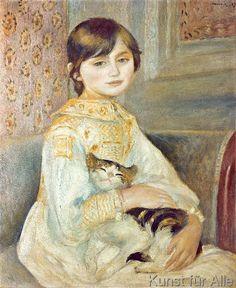 Pierre Auguste Renoir - Julie Manet with Cat, 1887