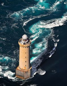Kereon Lighthouse. Brittany