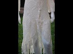 Blusón o Salida de playa paso a paso para tejerlo en cualquier medida para jovencita o mujer, tejido con 520 grs, de hilo de algodón con todos los detalles p...