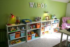Great idea for a DIY kids playroom