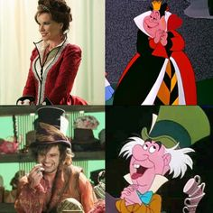 'Once Upon a Time' Queen of Hearts & The Mad Hatter. yeah everyone is a bit more normal and nice looking in Once.