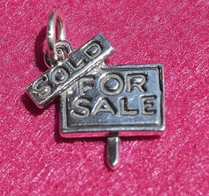 Brand New Sterling Silver, Realtor's Home For Sale, Sold Sign, Charm / Pendant #Rembrandt #CharmPendant