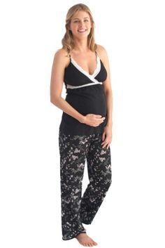 a32b6d94e3 Belabumbum Reika Maternity Nursing Pajama Pants And Cami Set