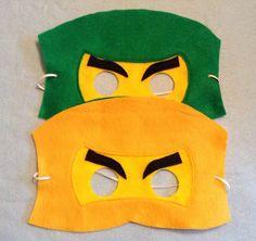 Ninjago Felt Mask. Set include 6 masks por miriamsolano en Etsy