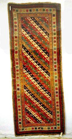 Shahsavan Rugs: Long rug by the Shahsevan of Moghan Ardabil Province c 1900 lot 266