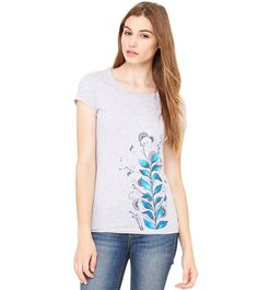 hand painted lady fit tshirt colourful funky original by byMIAmade