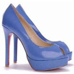 Christian Louboutin  Altadama 140mm Peep Toe Pumps Blue EAP