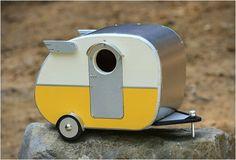 Vintage Camper Vogelhuisje - BrainFuel