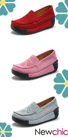 US$39.20 Breathable Platform Leather Casual Shoes #CasualShoes #platforms #SportShoes