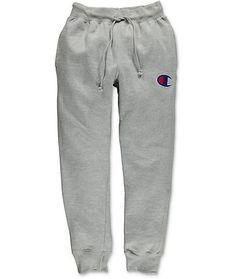 76226e4171f1 New Champion Mens Gray Reverse Weave Three Pocket Jogger Sweatpants Size  Large  Champion  CasualPants