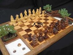Samurai Chess Set - Chess can be a stressful game due to its competitive nature and the need to be one step ahead of your component at all times, but the Samurai Chess...