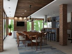 Projetos | Layouts Casa, House Layouts, Style At Home, Exterior Design, Interior And Exterior, Front House Landscaping, Home Pub, Best Kitchen Designs, House Landscape