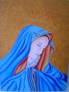 Pintura con acrílico y textura