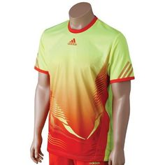 Adidas '12 Men's Adizero Crew Tee-XL by adidas. $41.00. FORMOTION engineered for ultimate freedom of movement. Lightweight fabric for extra comfort. Sublimated graphic print. Worn at 2012 Australian Open. 100% polyester jacquard. Color: Electricity/High Energy.