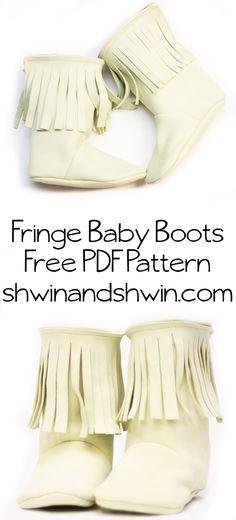 Fringe Baby Boots    Free PDF Pattern