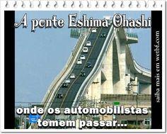 A Ponte que mais parece uma montanha Russa, tanto é instável...