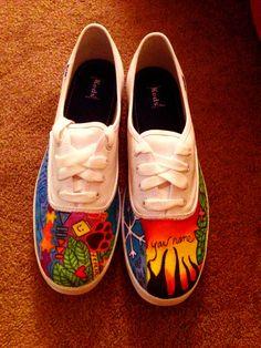 omfg, Ed Sheeran tattoo inspired shoes :o