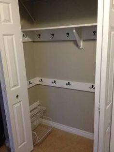 Turn a coat closet into a mudroom