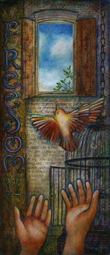 """Set Free"" painting by Valerie Sjodin"