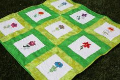 My Spring Time Quilt  Made By Critterbug Creations