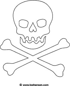 Jolly Roger Pirate Flag Coloring Page (free pirates printable) - forgot to print this for you @Ashley Walters Dortman
