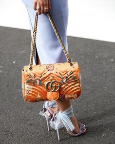 See Want Shop Blogger Lisa Hamilton | Orange Gucci |