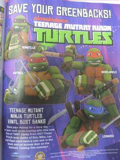 Esperando los banks de las turtles! TMNT