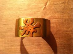 Funky, cool 70s/80s style cuff bracelet