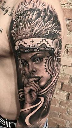 80 Fotos de tatuagens masculinas no braço | TopTatuagens Mum Tattoo, Wolf Tattoo Sleeve, Girl Face Tattoo, Girl Arm Tattoos, Upper Arm Tattoos, Feather Tattoos, Body Tattoos, Sleeve Tattoos, Tatoos