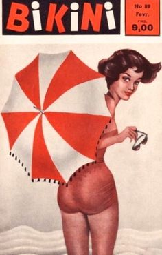 Bikini magazine, February 1959 (Source: simplymagdorable)