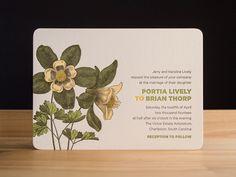Bloom invitation from Parklife Press