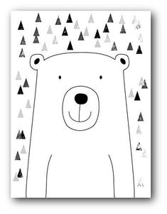 Bear Nursery Art, Nursery Bear Print, 8 x 10 Inches, Unfr...
