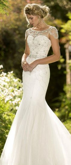 vintage sheer neckline wedding dress from true bride W185 #wedding #weddingdresses