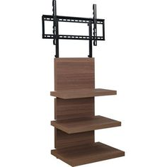 Altra Furniture Elevation Walnut Entertainment Center 1186196 – The Home Depot – Ashbourne – Centro – Hometheaters Best Tv Wall Mount, Wall Mount Tv Stand, Tv Stand With Mount, Tall Tv Stands, 60 Tv Stand, Tv Stand Room Divider, Hifi Stand, Tv Stand Shelves, Swivel Tv Stand