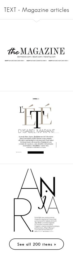 """TEXT - Magazine articles"" by dian-lado ❤ liked on Polyvore featuring text, words, fillers, backgrounds, magazine, quotes, articles, phrase, headline and borders"