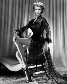 Beautiful early career pin up of birthday star Anne Francis; she was born on September 16, 1930.