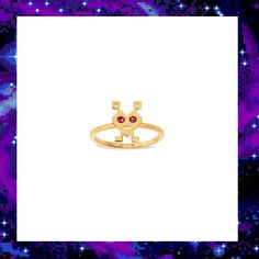 LOVE INVADER RING £70.00 Space Invaders, Out Of This World, Techno, Your Favorite, Jewelry Collection, Ring, Accessories, Rings, Quarter Ring