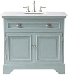 """Sadie Single Vanity, 35""""Hx38""""Wx21.5""""D, ANTIQUE BLUE Home Decorators Collection http://www.amazon.com/dp/B00L95CM7E/ref=cm_sw_r_pi_dp_S5r5ub18661BF"""