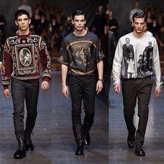 Dolce&Gabbana Winter 2016 Men's Fashion Show. #dgfamily #dgfw16 #mfw #fw16