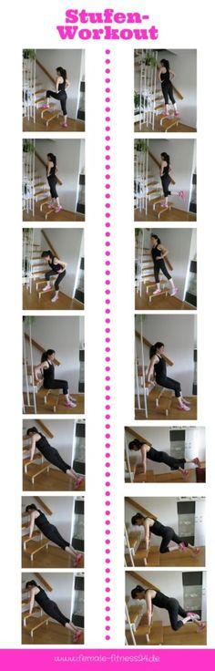 Fitness Training   Workout - diese Übungen werden mit dem eigenen Körpergewicht durchgeführt. Trainiert werden Beine, Bauch, Trizeps und Schultern.
