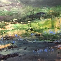 """ Emerald Love "" (110x120cm) Abstract landscape / Contemporary Art"