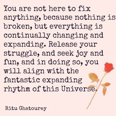 Nothing Is Broken. An important reminder that ALL is well. It's our actions from THIS point and forward that matters.