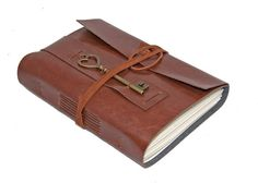 Light Brown Vegan Faux Leather Journal with Heart by boundbyhand, $25.00